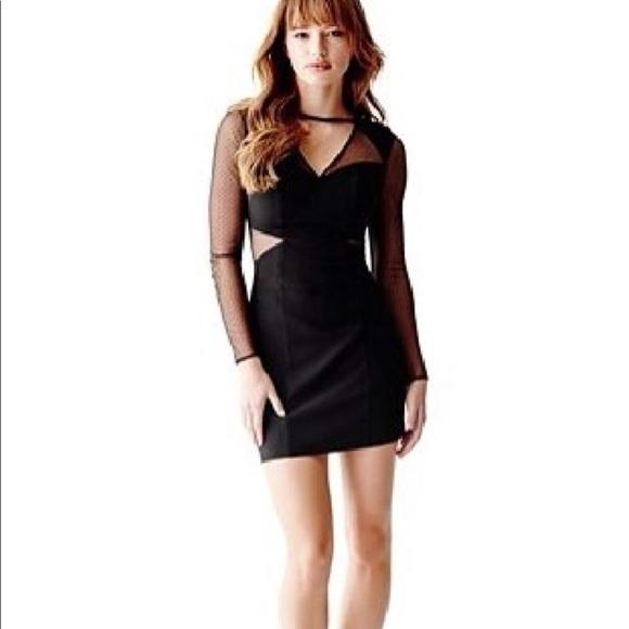 Guess Dresses Mesh Short Long Sleeve Dress Poshmark